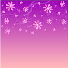 Fond rose abstrait - Fleurs au printemps