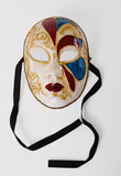 Oval Venetian Mask With Ribbons poster