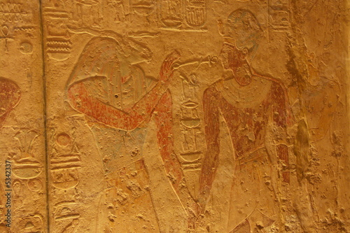 Painting in the Kalabsha Tempel