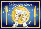 vegan / vegetarian series -  clipart poster