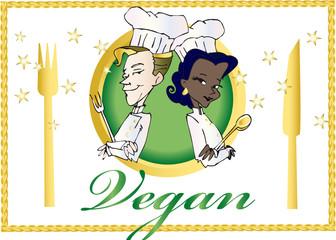 vegan / vegetarian series -  clipart