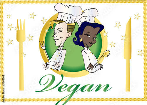 vegan / vegetarian series -  clipart