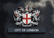 london coat of arms on a wall