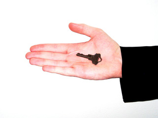 Isolated Hand With Scars With Key