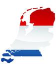 Carte des Pays-Bas (Drapeau métal) poster