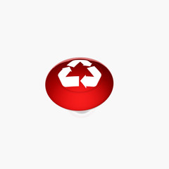 red recycle buton