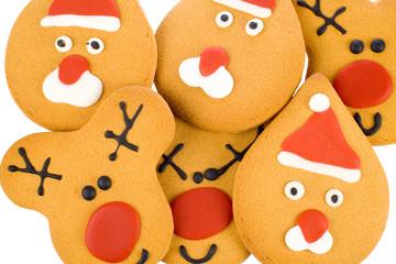 gingerbread reindeer, santa