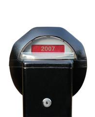 2007 written on expired parking meter