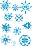 blue snowfall poster