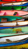 an abstract image of some boats on the beach at Leigh-on-Sea