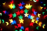 Christmas bokeh stars poster