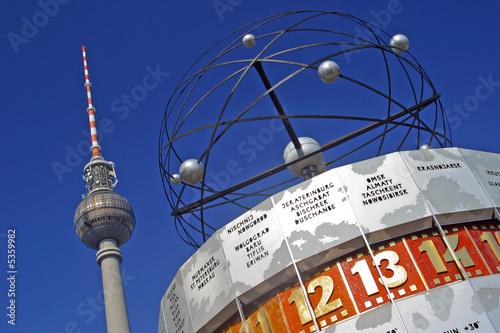 Weltzeituhr Fernsehturm Alexanderplatz - 5359982