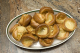 Yorkshire pudding on a plate at christmas time poster