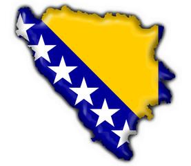 bosnia button flag map shape