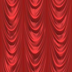 Dark red curtain