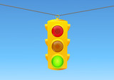 Traffic light green poster