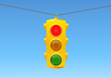 Traffic light red poster