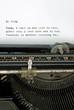 Retro typewriter with mundane blog