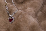 Ruby Necklace on Mink poster