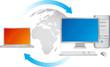 Ordinateur de bureau et ordinateur portable en réseau