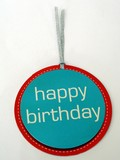badge or pendant. happy birthday. anniversary poster