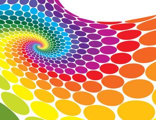 Rainbow Spiral Wave
