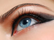 Make-up style. Woman eye with fashion desing.