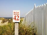 Beach access. poster