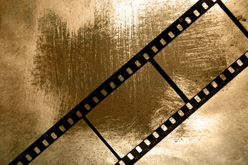 35mm background with colorful gold and natural painting