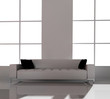 Furniture in a modern interior 3d image