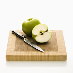 Cut apple.