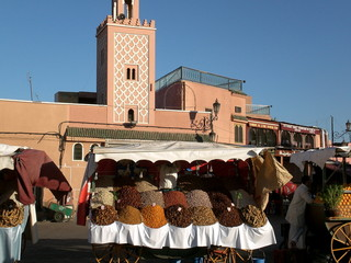 Souks of morrocco, spice stall marrakech