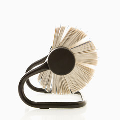 Side view of rolodex.