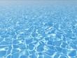 Leinwandbild Motiv blue water surface in outdoor pool