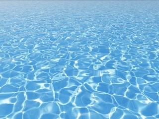 niebieska powierzchnia wody w odkrytym basenie