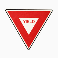 Yield sign.
