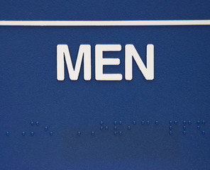 Men sign with braille.