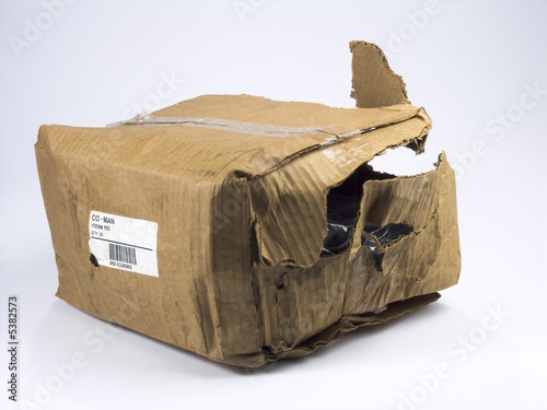 Leinwanddruck Bild Fragile package, handle with care