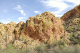 Rocks  Formation at the Apache Trails in Arizona poster