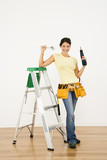 Home improvement woman. poster