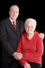 handsome elderly couple, portrait