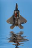 F-22 Raptor jet airplane during airshow poster