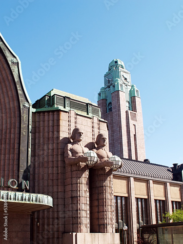 Helsinki central railway station, close-up