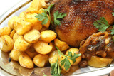 Delicious turkey with potatoes - wonderful meal for dinner poster