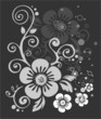 dark flowers pattern