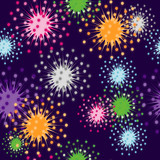 Vivid firecracker, seamless vector wallpaper poster