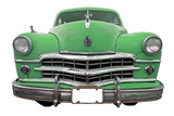 Fototapety oldtimer classic green retro car isolated - cuba