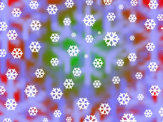 Bright snowflakes against a soft focus festive background
