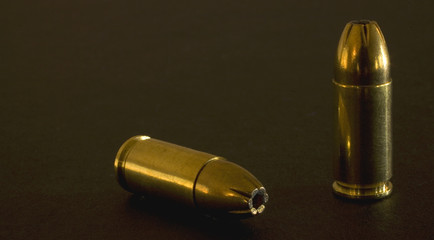gold-colored cartridges