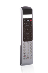 Close-up of an universal remote control